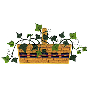 Ivy Basket Applique