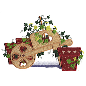 Ivy Wheelbarrow